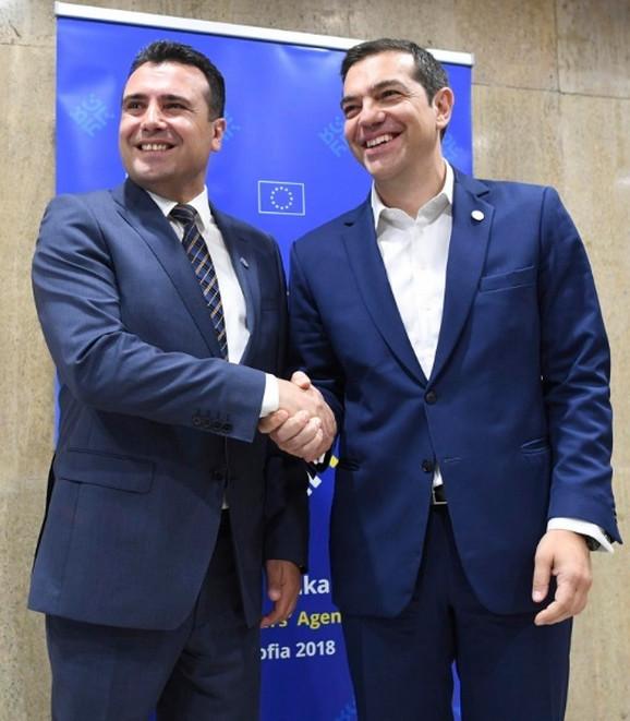 Zoran Zaev i Aleksis Cipras