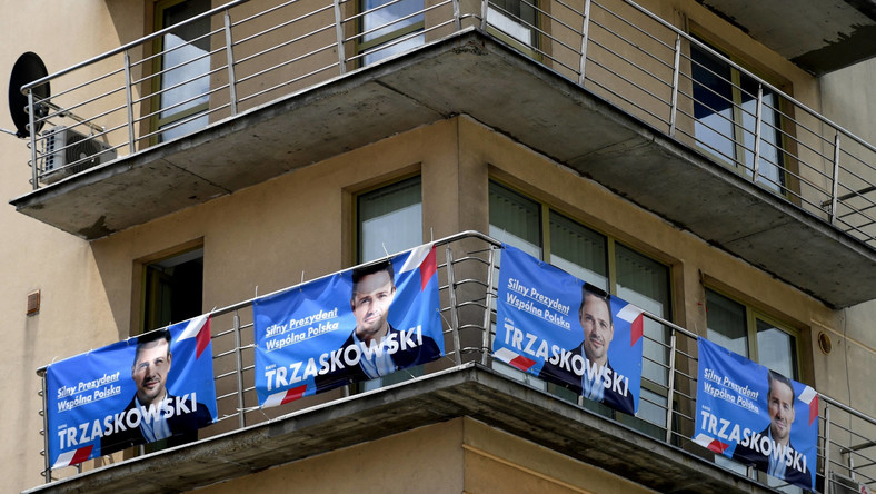 Baner wyborczy Rafała Trzaskowskiego