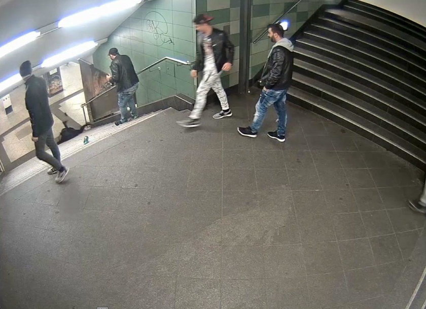 Pasażer pomógł schywtać brutala, który skopał kobietę w metrze