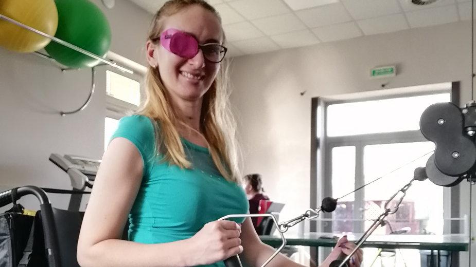 Beata Leśniewska w trakcie rehabilitacji