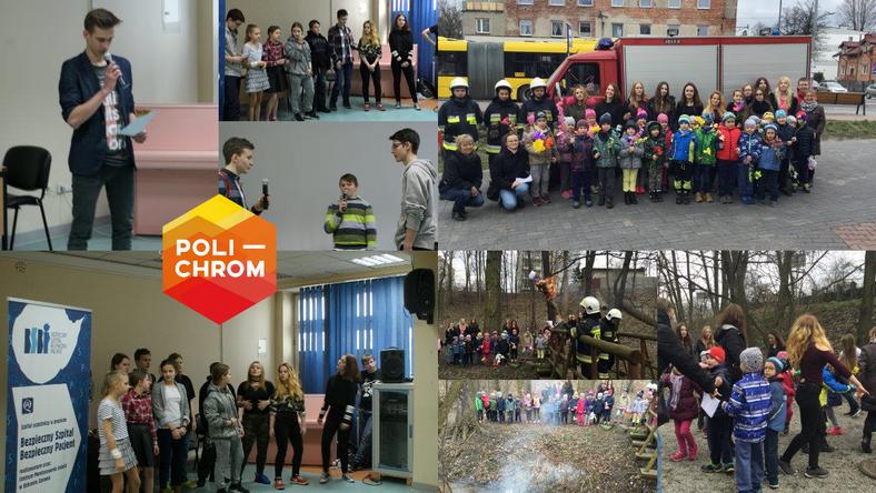 W Gimnazjum nr 19 w Katowicach wolontariusze, przedszkolacy oraz strażacy wspólnie topili marzannę