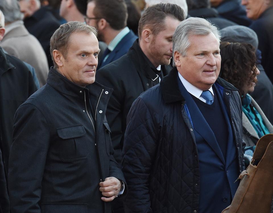 Przewodniczący-elekt Rady Europejskiej Donald Tusk i były prezydent Aleksander Kwaśniewski