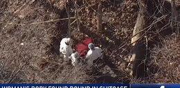 Drogowcy odnaleźli walizkę z ciałem kobiety. Miała związane ręce i nogi