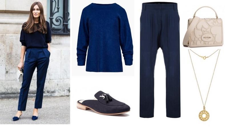 Eleganckie garnitury, koszule czy spódnice doprawiamy szczyptą modowych trendów i odrobiną fantazji. Zamiast zwyczajnych, czarnych eleganckich dołów nosimy wygodne spodnie szwedy lub z komfortowej dzianiny.