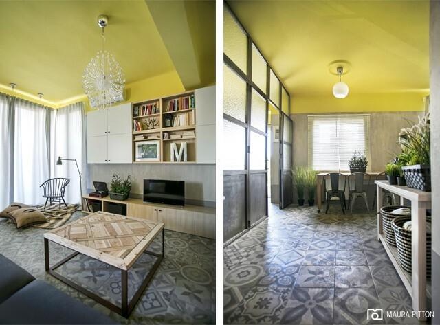 Odważnie urządzone mieszkanie w Hiszpanii. Przytulnie i oryginalnie, a wszystko dzięki kolorom