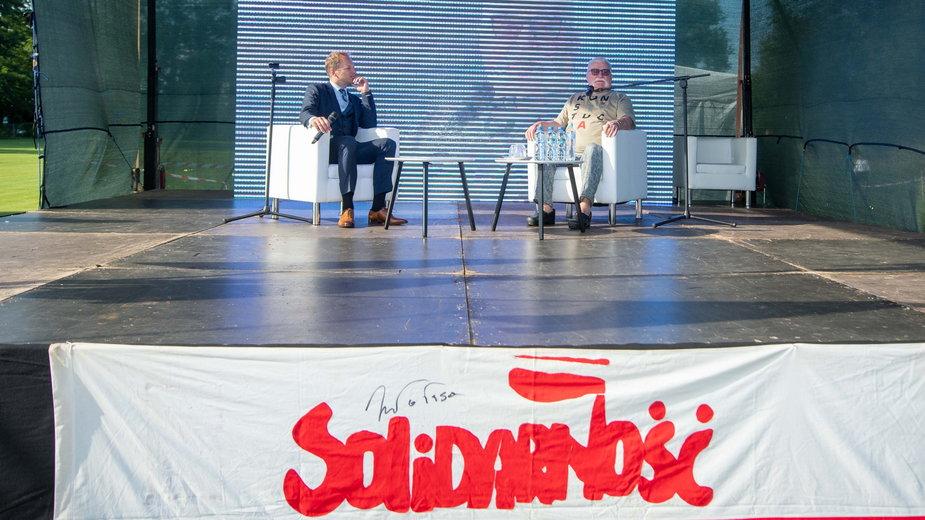 Spotkanie z Lechem Wałęsą w Pabianicach
