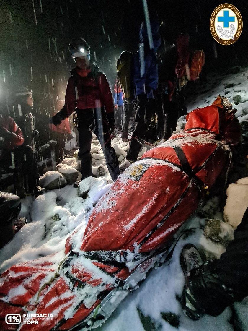 Turyści bez doświadczenia poszli na Rysy. Akcja ratunkowa trwała 14 godzin