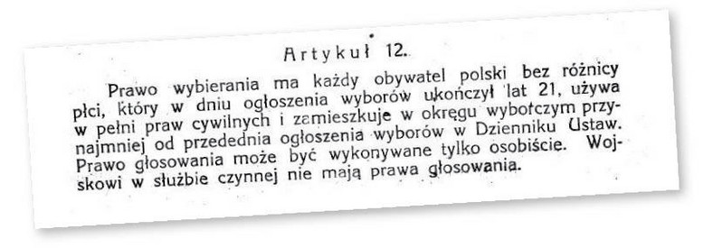 Jeden z najważniejszych zapisów konstytucji z 17 marca 1921 r.