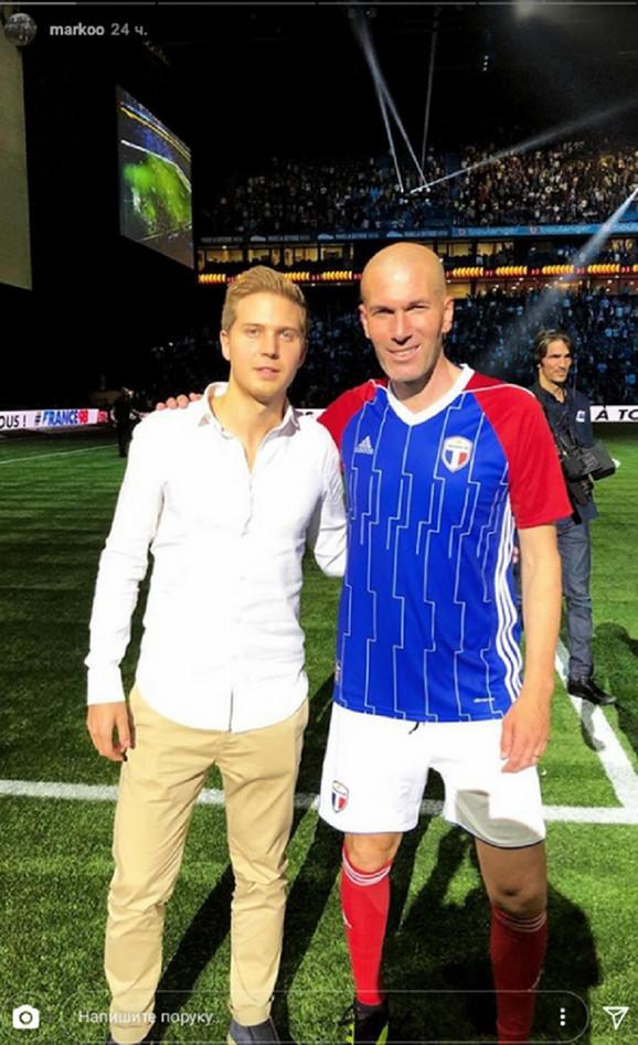 Marko Stojković sa Zinedinom Zidanom