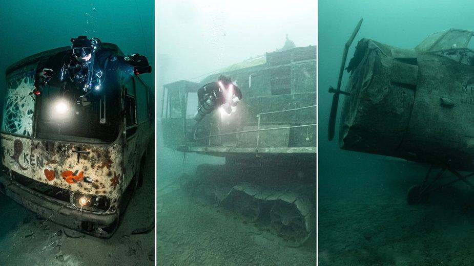 Autobusy, koparki, samoloty. Nurek mówi, co można znaleźć w Polsce pod wodą