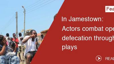 Actors combat open defecation through plays