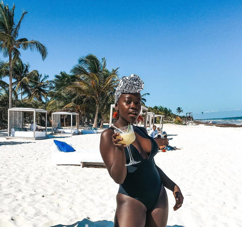 Achieng holidaying Casa Malca Hotel in Mexico (Instagram)
