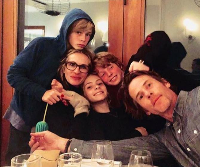 Džulija Roberts sa porodicom