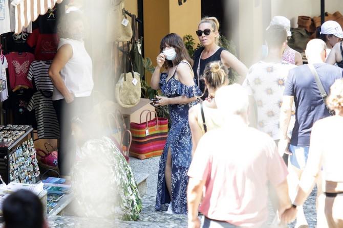 Monika Beluči u Italiji nosila masku