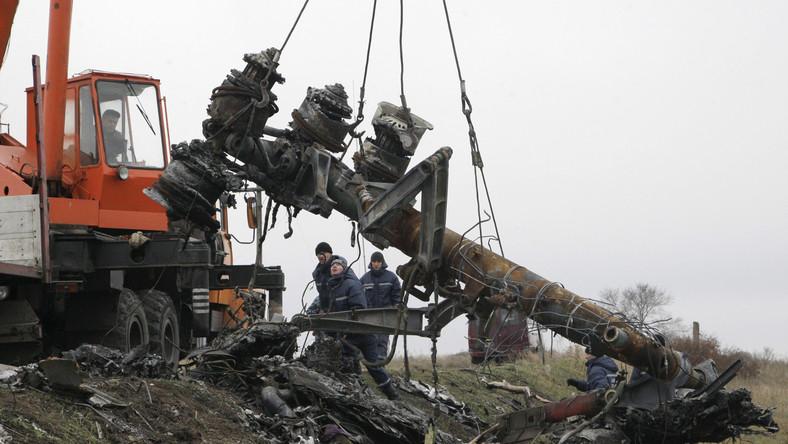 Szczątki zestrzelonej maszyny