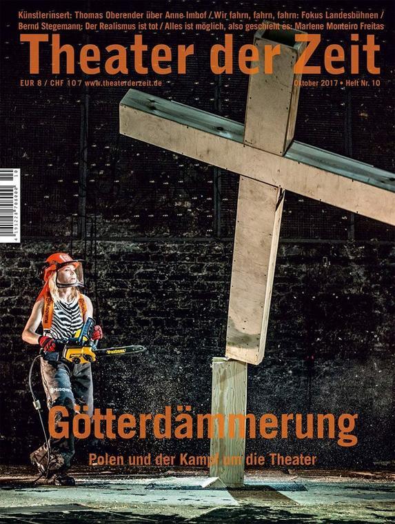 Okładka Theater der Zeit z października 2017 roku