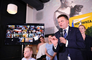 Hołownia: W II turze będę głosował na Trzaskowskiego, ale bez przyjemności