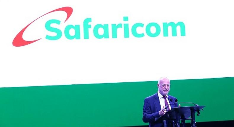 Safaricom CEO Michael Joseph during the 19th anniversary celebrations