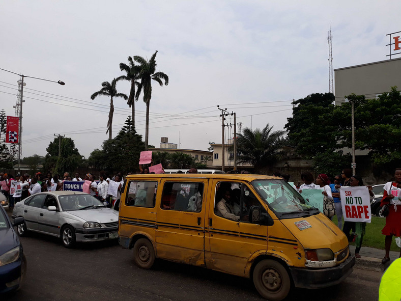Protesters storm COZA church in Lagos, screaming 'no to rape' (Pulse)