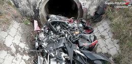Tragedia na drodze. Motocykl wbił się w kanał