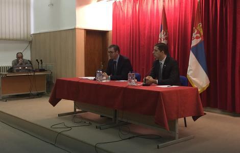 Vučić na Tehničkom fakultetu u Mitrovici