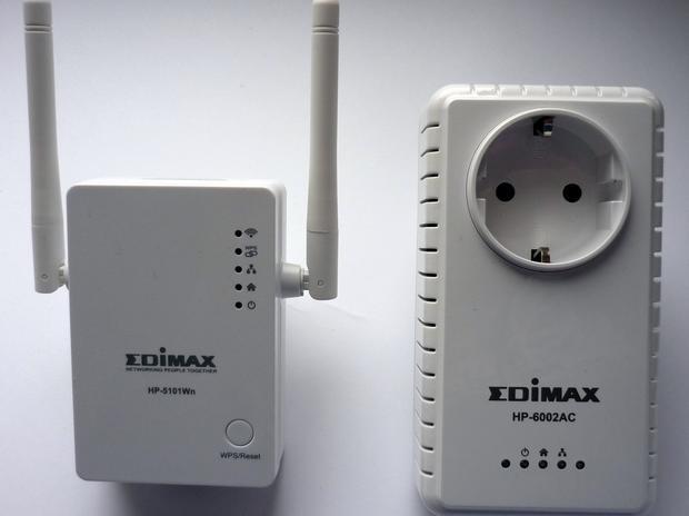 Urządzenia powerline EDIMAX HP-5101Wn oraz HP-6002AC, fot. własne