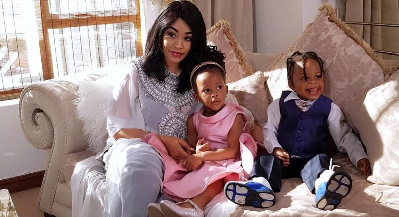 Zari Hassan with her Kids Nillan and Tiffah.