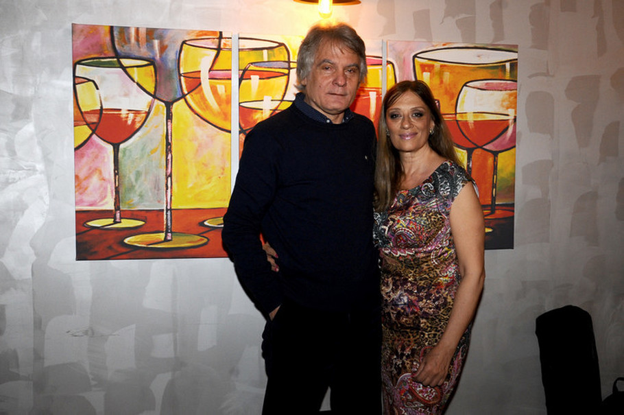 Dule Savić sa suprugom Marinom