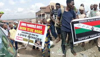 Police take over venue of Yoruba self-determination rally in Ibadan. (Punch)