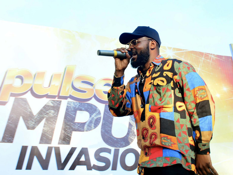 performing at the MTN Pulse Campus Invasion, Kwara State