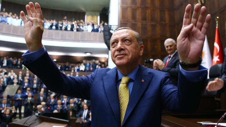 Prezyent Turcji Recep Erdogan