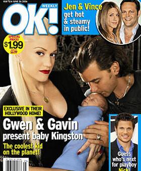 """""""OK!"""" za zdjęcie Gwen Stefani i Gavina Rossdala z synem Kingstonem zapłacił tylko 575 tys. dolarów"""