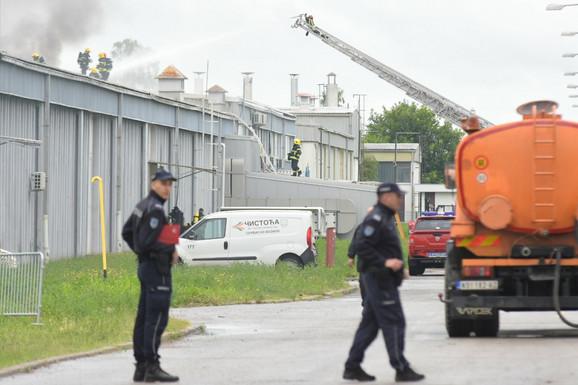 požar u fabrici ''Koteks Viscofan''