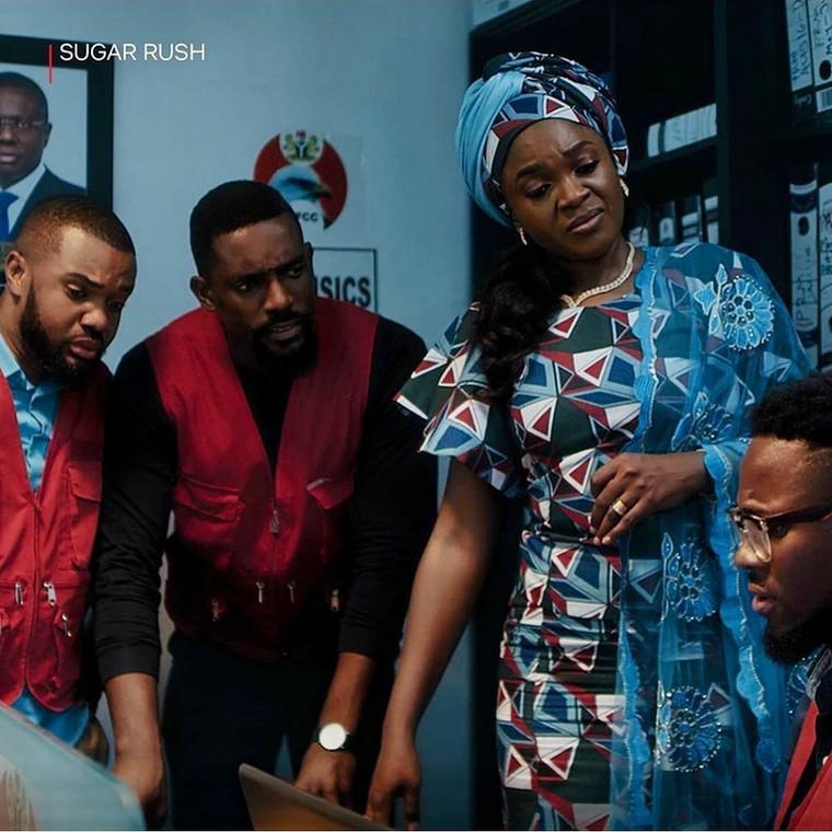 Williams Uchemba and Mawuli Gavor play EFCC officials 'Sugar Rush'  [Sugar Rush movie]