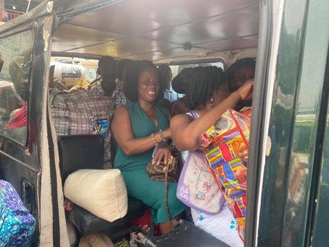 Comfort Doyoe Cudjoe Ghansah joins trotro
