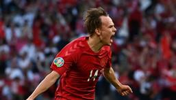 Mikkel Damsgaard scored twice at this summer's Euro 2020 Creator: Paul ELLIS