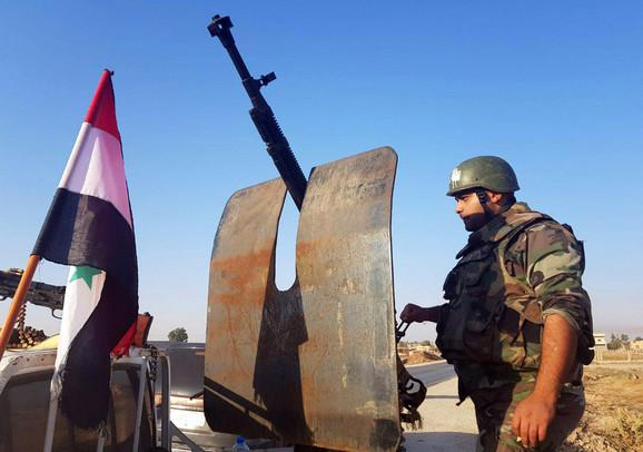 Sirijski vojnici u Tal Tamru
