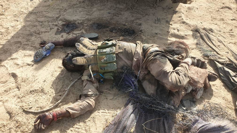 Boko Haram/ISWAP terrorists succumb to military onslaught in Borno. [Twitter/@HQNigerianArmy]