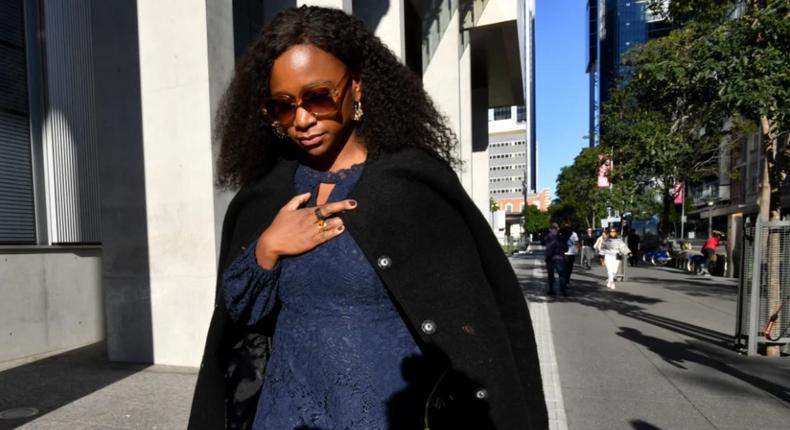 Former KTN presenter Esther Arunga leaves the court on Thursday after she was sentenced to 10 months parole