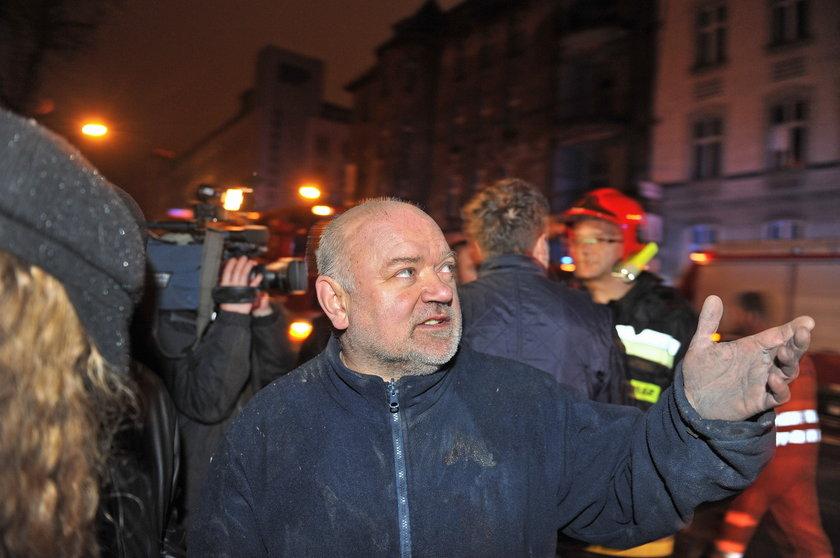 Katowice. Wybuch gazu w kamienicy przy zbiegu ul. Sokolskiej i Chopina