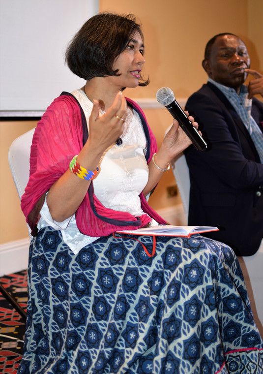 Aarti Shah, a Fintech expert, speaking during a policy breakfast meeting organized by Strathmore Business School and Business Advocacy Fund (BAF) to discuss 'Blockchain technology and its impact on Kenya's Economy'.
