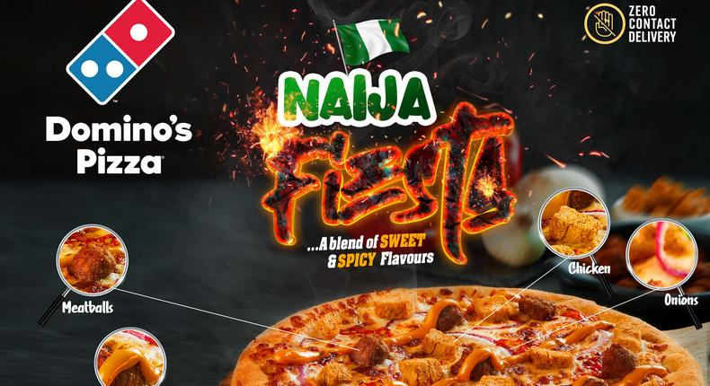 Savour the true taste of Naija with the NEW Domino's Naija Fiesta Pizza