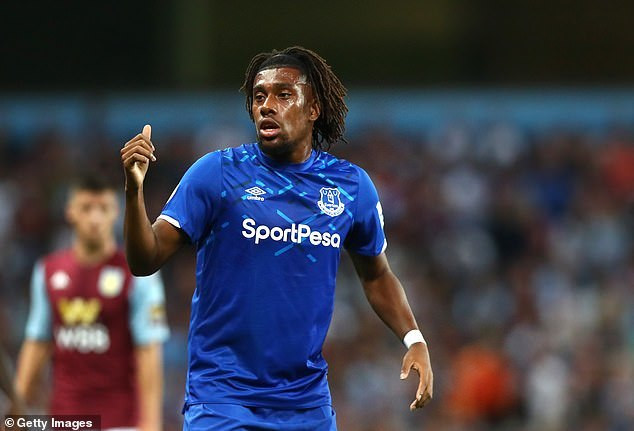 Alex Iwobi made an impact when he came on for Everton on his debut (Getty Images)