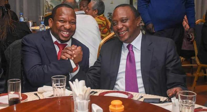 File image of President Uhuru Kenyatta with Mike Sonko