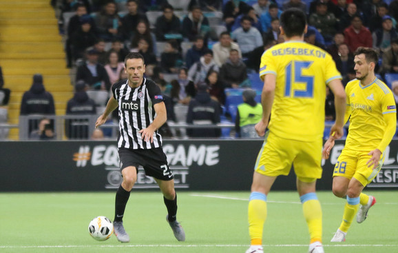 Detalj sa meča drugog kola Lige Evrope Astana - Partizan