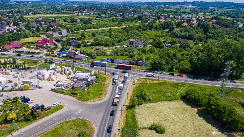 Korki na trasie Kraków - Skawina
