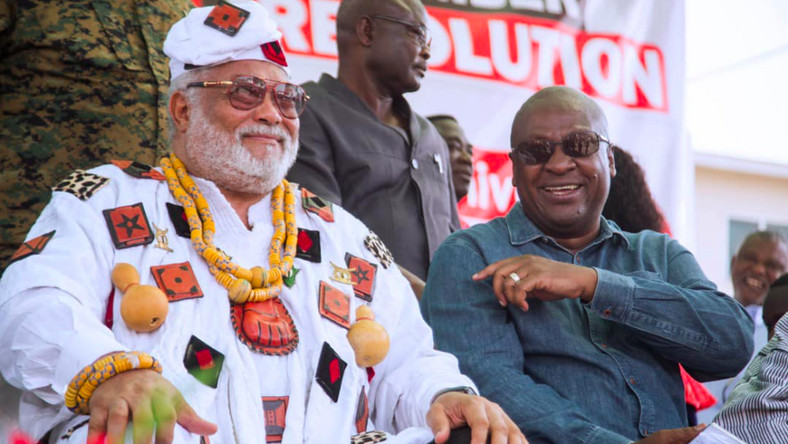 Rawlings and Mahama all smiles