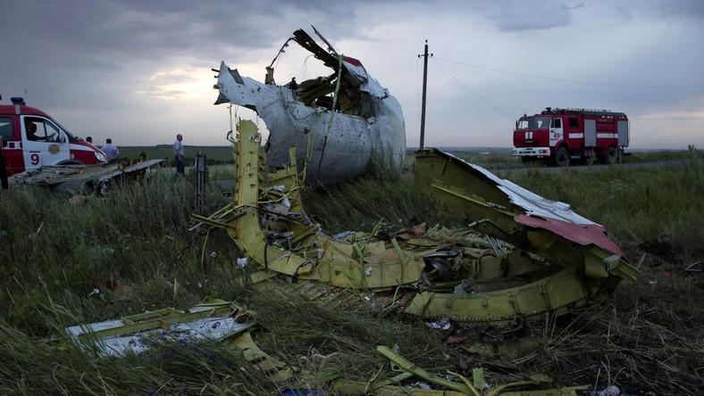 Szczątki zestrzelonego malezyjskiego samolotu