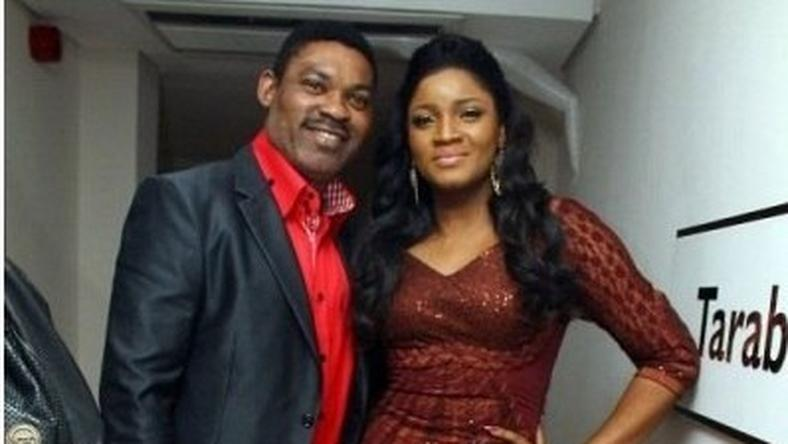 Omotola Jalade-Ekeinde and her husband, Captain Matthew Ekeinde