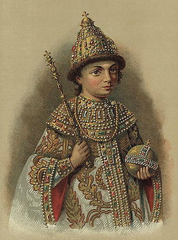 Petar Veliki kao desetogodišnji dečak